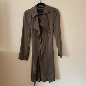 Babaton olive trench coat - size small